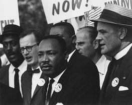 Мартин Лютер Кинг во время Марша на Вашингтон