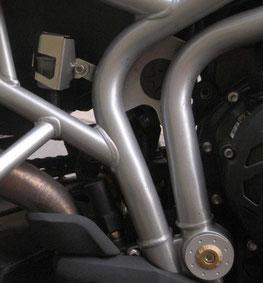 Schwingenlagerabdeckung bzw. Schutz für Bremsflüssigkeitsbehälter