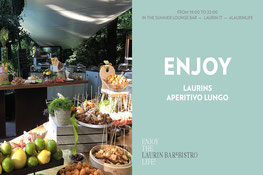 Laurins Aperitivo Lungo in the Summer Lounge in the Laurin Park - Gourmet Südtirol