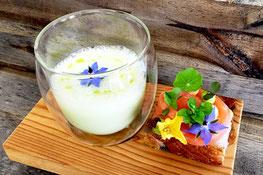 Gurkenkaltschale - Zuppa ghiacciata al cetriolo e yogurt - Hotel Gasthof Restaurant Jäger - Ristorante - Gourmet Südtirol