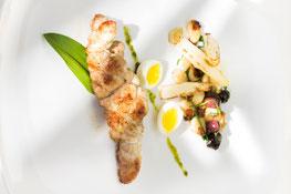 Gebratenes Kalbsbries und Spargelsalat by Florian Patauner Gourmet Südtirol