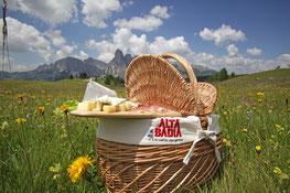 Picknick am Berg in Alta Badia - Picnic in vetta in Alta Badia - Gourmet Südtirol