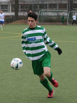 David Gatidis zum 1:0 für Teutonia