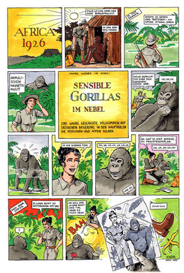 Sensible Gorillas im Nebel