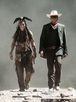 Johnny Depp et Armie Hammer, amis inséparables de LONE RANGER (©Walt Disney Company)