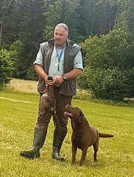 Peter Isopp mit Berti - Richbert vom Waldschratt