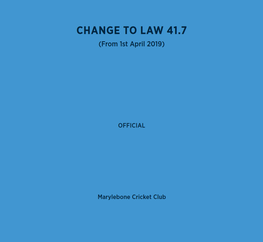 MCC laws of cricket