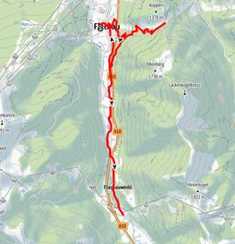 Radtour zum Sattelbauern und entlang des Ennstalradwegs von Flachau nach Flachauwinkl