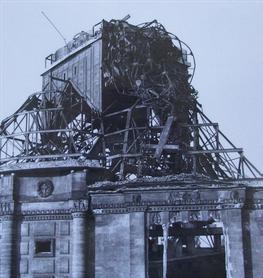Zerstörte Alte Zionskirche Dresden 1945