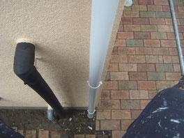 竪雨樋 塗装後