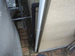 竪雨樋 塗装前