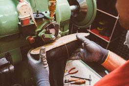 Schuhproduktion