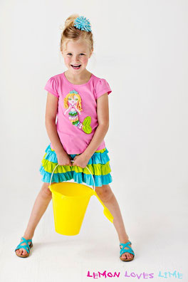 lemon loves lime, mermaid shirt, beach shirt, skort, ruffled skort