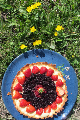 Tarte aux 3 fruits rouges