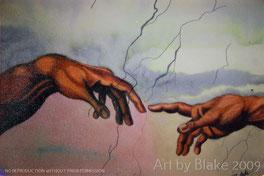 Creation of Adam by Blake 2009