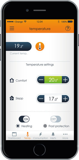 Eco-Touch | Thermostat application