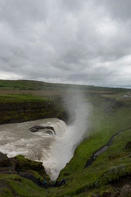 Gullfoss - second saut - Islande - 14/07/2014