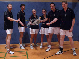 1.Mannschaft v.l.: Ulli Honrath, Michael Backhaus, Anja Honrath, Judith Bienen, Lars Bleibtreu und Jens Schodlock