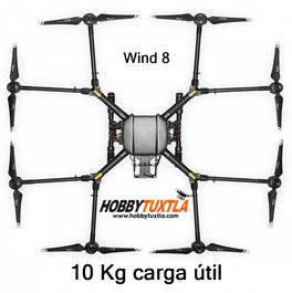 Los Drones Wind 8 pueden cargar 10 Kg en cámaras o herramientas ..