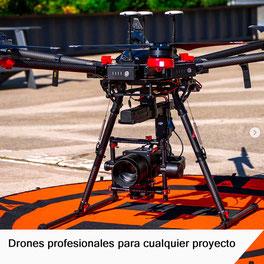 Los drones profesionales Matrice 600 ideales para la cinematografía