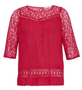 rote Bluse für Übergrößen , elegante Spitzenbluse in Gr 48