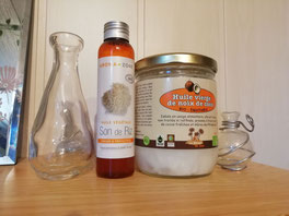 huile de coco et son de riz
