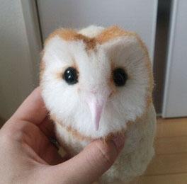 メンフクロウ 羊毛フェルト