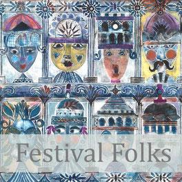 festival folks giclee art print