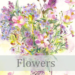 flowers giclee prints