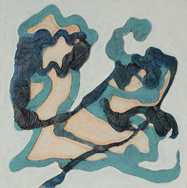 Nr. 2014-HO-013: 30 x 30 cm, Acryl, Tinte auf MDF