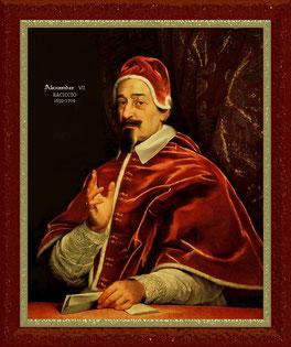 Папа Александр VII, работа Джованни Гаулли.