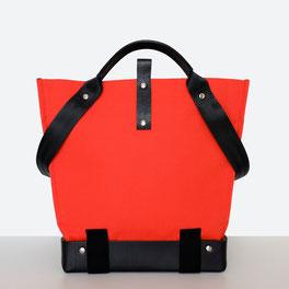 Trasporta bag - Borsa inclusiva Ticinese - Borsa per sedia a rotelle - Borsa a mano - Borsa  a tracolla - Prodotta in Ticino - Colore rosso