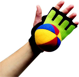 Ensemble de 12 gants et balles de scratch ball. Jeu de scratch-ball pour les enfants avec balle velcro et gant en scratch pour jeu de scratchball à acheter pas cher.