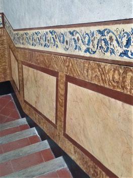 Pintors Barcelona. Restauración estuco en finca catalogada. Pintores en Ciutat Vella, Eixample, Gràcia, Sarria, Les Corts, la bonanova