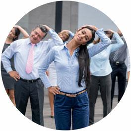 Rückenkurs, Büro, Arbeitsplatz, Betriebliche Gesundgheitsförderung