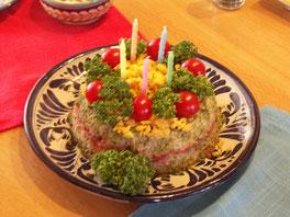 お寿司のケーキ作ってみました。
