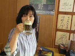 わさびビール、おいしっ!