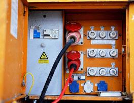 Elektroversorgung Baustelle