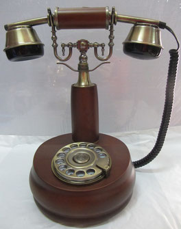 Teléfono sobremesa de madera