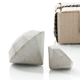 Concrete Diamond Sculpture Set of 2 by PASiNGA