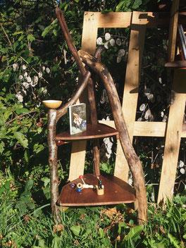 étagère calebasse en bois flotté