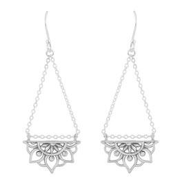 925 sterling zilver mandala earring oorbel
