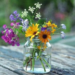 Prendre son temps au jardin : faire des bouquets de fleurs - Image de momes.net