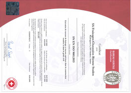 Certification selon ISO 9001