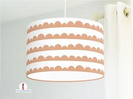 Lampe fürs Kinderzimmer und Schlafzimmer in Terrakotta mit Halbmond Muster aus Baumwolle