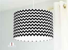 Lampe für Wohnzimmer und Küche in Schwarz-Weiß aus Baumwollstoff - andere Farben möglich