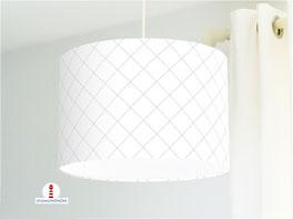 Lampe mit skandinavischem Muster in Grau Weiß aus Baumwolle