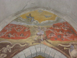 peinture murales église Epercieux Saint Paul