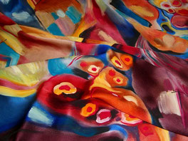peinture sur soie rozier en Donzy