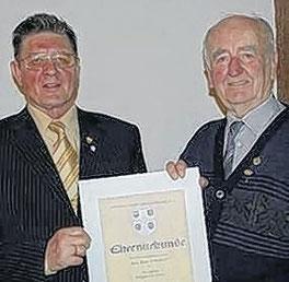 Goldene Ehrennadel für Bruno Schubert - 2008